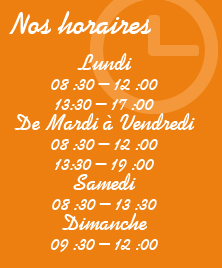 SUPERBLANC PRESSING-horaires